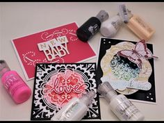Tonic Studios Big Nuvo Drop Sale, Tutorial of Some Fun Ways to Use Them & Wednes-Die Deals! - YouTube Homemade Cards, Some Fun, Baby Love, Studios, Card Making, Drop, Big, Youtube, How To Make