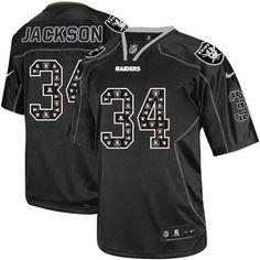 40ab747f8 Elite Men's Nike Oakland Raiders Richard Seymour Lights Out Black NFL Jersey