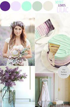 Color palette. Lambs ear potted on tables & single stem purple flowers in milk glass. Lilac & mauve bridesmaid dresses?