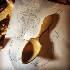Getting excited for my next carving , my plan is to use some walnut. I spent a good part of the day drawing and redrawing my pattern till I was happy with the flow of the lines. This pattern was drawn by Brian Takeuchi ,all rights reserved. #spoon #woodspoon #acanthus #carving #norsktradisjon #gudbrandsdalen #Allthegoodwood #dowoodworking #woodcarving #woodworking #pnw #sunwoodlakes #oldschool #spooncarving #stepbystepwoodcarving #bestofigwoodworking #woodworkforall