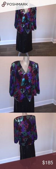 1980s sequin beaded jacket and skirt! 1980s sequin beaded jacket and skirt Toshiko fashions Creations abstract design multi color 100% silk. Toshiko Fashion is a Bridal Salon in Southborough, MA. ... Bridesmaid Dresses, Mother of the Bride Dresses, Shower + Party Dresses, Wedding Dresses. Toshiko Fashion  Dresses Wedding