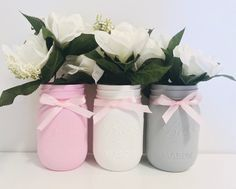 Excited to share this item from my shop: Baby Shower Mason Jars Set of 3 Pint Mason Jars Baby Girl Shower It's a Girl Baby Shower Nursery Decor Pink and Gray Mason Jars Baby Shower Decorations Neutral, Baby Girl Shower Themes, Baby Theme, Purple Mason Jars, Pint Mason Jars, White Baby Showers, Grey Baby Shower, Pink And Gray Nursery, Pink Grey