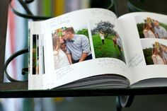 iphoto album guest book #wedding ideas