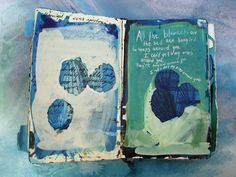 White Space around edges, layers of paint, spaces left for the underlayer to show through and writing on top sketchbook pages by M. Artist Journal, Artist Sketchbook, Sketchbook Pages, Art Journal Pages, Art Journals, Visual Journals, Collages, Moleskine, Painted Books