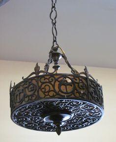 tudor style chandelier