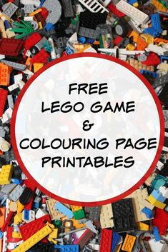 free lego game and colouring page printables