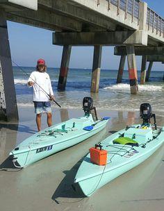 Fishing kayaks with motors