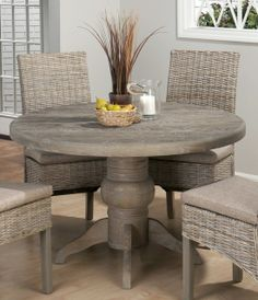 Cindy crawford home key largo rattan 5 pc round dining set for Round table 99 rosenheim
