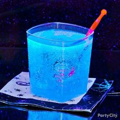 This Avatar-inspired cocktail mimics the glow-in-the-dark world of Pandora. The trick? Tonic water and black light!