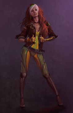 Rouge  >> the best Xmen character who gets NO love! She's so badass! Yes, when we played Xmen, I was Rogue. Period.