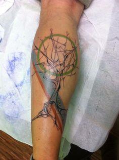 #tattoo #tree #omega_cbu Tattoo Tree, I Tattoo, Cool Tattoos, Tree Art, Tattoo Inspiration, Omega, Dream Catcher, Abstract, God Tattoos