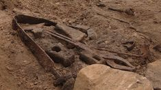 A Viking blacksmith's grave containing tongs, a bent sword, pieces of metalwork and an axe was recently uncovered in Sogndalsdalen, Norway. All of the artifacts will be conserved before being put on display at the University Museum of Bergen.