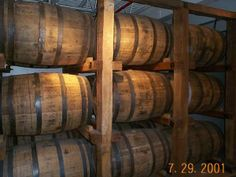 Whiskey barrels at Jack Daniels, TN