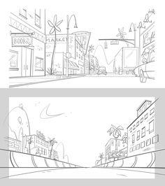 Miranda Tacchia Cartoon Background, Animation Background, Art Background, Bg Design, Sketch Design, Environment Concept Art, Environment Design, Storyboard Examples, Animation Portfolio