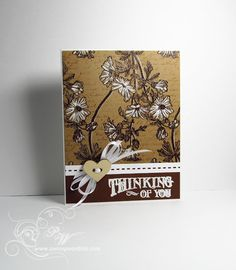Penny Black Trailing Beauty, ... embossed the flowers with chocolate brown on kraft,  then colored them with a white pencil and gel pen.