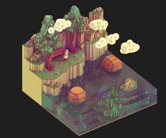 Various scenes - Voxel art on Behance