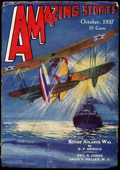 Amazing Stories, October 1937. Cover art by Leo Morey.