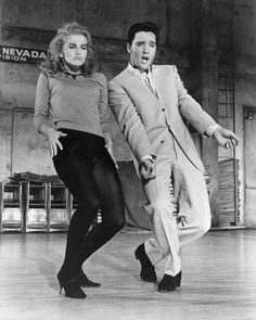 When Ann Margret let her hair down in this dance scene in Viva Las Vegas. (with Elvis in Viva Las Vegas, Ann Margret, Elvis Presley, Shall We Dance, Lets Dance, Dance Sing, Dance Wear, Mick Jagger, Classic Hollywood, Old Hollywood