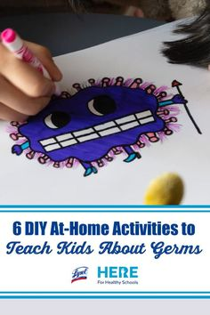 """6 DIY At-Home Activities to Teach Kids About Germs—For at-home germ education, try one of these fun DIY activities, from """"Glitter Germs"""" to """"Hot Potato Germ Exchange."""" Always use parental supervision. #activities #activitiesforkids #DIY #germs #education #teaching #parenting #healtheducation #health #learningathome Healthy Schools, Healthy Kids, Kid Picks, Free Lesson Plans, Home Activities, Beginning Of School, Fun Diy, Health Education"""