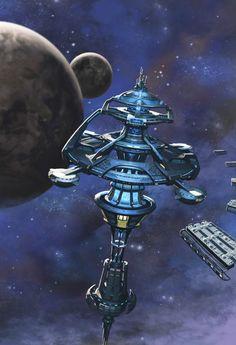 Hillside town by Chris Dien on ArtStation. Spaceship Art, Spaceship Design, Science Fiction Art, Science Art, Star Wars, Starship Concept, 70s Sci Fi Art, No Man's Sky, Arte Dc Comics