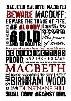 Macbeth Poster - this Etsy shop has a ton of awesome literary posters Macbeth William Shakespeare, Shakespeare Plays, Shakespeare Quotes, Shakespeare Festival, British Literature, English Literature, Teaching Literature, Literature Quotes, Classic Literature