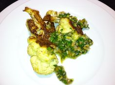 Roasted Cauliflower with Sauce Vierge
