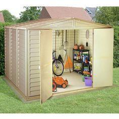 Duramax Woodbridge 10 x 8 Garden Storage Shed & 18 best Backyard Storage Solutions images on Pinterest | Backyard ...