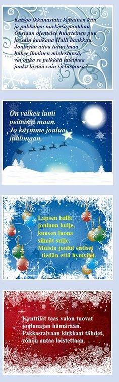 Kauneimmat joulurunot | kauniit jouluvärssyt Pandora, Map, Maps, Peta