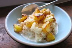 Coconut Rice Pudding with Warm Pineapple