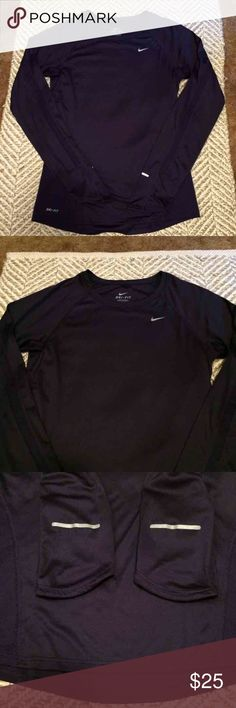 Nike long sleeve miler running top Nike plum purple long sleeve miler top. Excellent condition. 100% polyester Nike Tops Tees - Long Sleeve