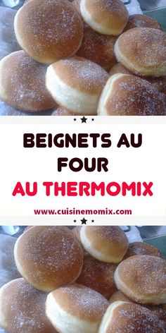 Beignets au four avec thermomix - Food Recipe Donut Recipes, Gourmet Recipes, Whole Food Recipes, Cooking Recipes, Healthy Recipes, Healthy Desserts, Easy Desserts, Crepes, Baguette