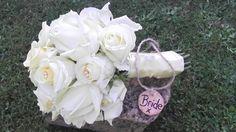 Buttermilk and cream rose handtied