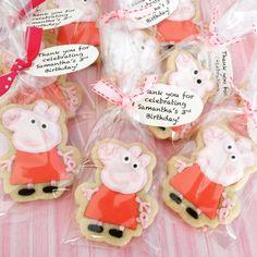 Peppa Pig; peppa pig cookies (12) by WoodenitbeSweetLI on Etsy https://www.etsy.com/listing/232454501/peppa-pig-peppa-pig-cookies-12