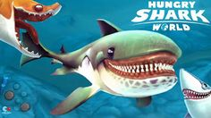 Hungry Shark World Jeu Android iOS Télécharger Hungry Shark monde - contrôler un énorme requin et v...