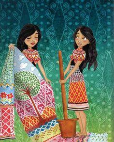 Illustration by Emila Yusof from Legendary Princesses of Malaysia, written by Raman, (Oyez! Books, Malaysia, 2013)