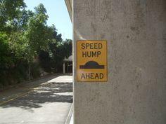 Speed Hump Ahead