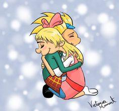 Arnold and Helga: Loving Embrace by BloodAngel28.deviantart.com on @deviantART