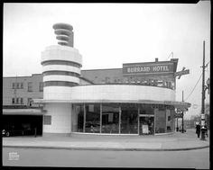 Burrard Motor Inn Suspension Bridge Vancouver, Historical Images, Googie, The Province, Local History, Photo Archive, British Columbia, West Coast, Abandoned