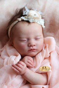 Items similar to FREE BABY Weekend! (See Description) Custom Reborn Babies - Realborn® Sleeping Laila 18 inches Full Limbs & on Etsy Reborn Doll Kits, Reborn Baby Dolls, Reborn Child, Reborn Babies For Sale, Silicone Baby Dolls, Baby Bouncer, Realistic Baby Dolls, Lifelike Dolls, 3rd Baby