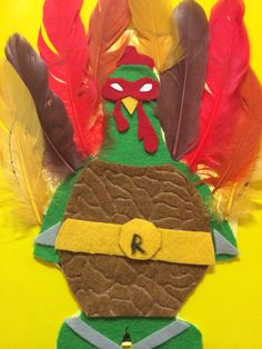 #TMNT Turkey in disguise. Teenage Mutant Ninja Turtles under cover.
