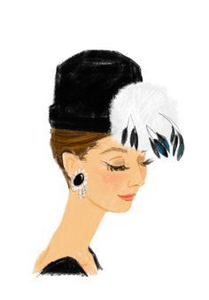 Audrey Hepburn | Elisa Chavarri illustration