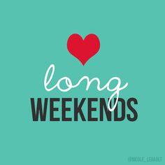 Long weekends = more sleep