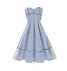 M6956 Misses' Dresses & Belt