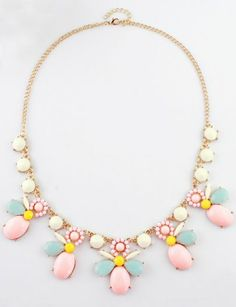 Gemstone Gold Chain Necklace