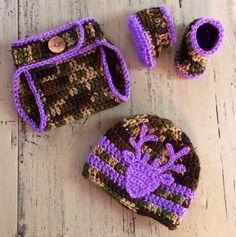 A personal favorite from my Etsy shop https://www.etsy.com/listing/249438300/newborn-crochet-purple-camo-hat-diaper