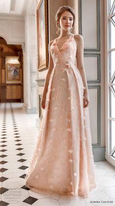 aurora couture 2019 bridal sleeveless v neck full embellishment romantic blush a line wedding dress mv -- Aurora Couture 2019 Wedding Dresses Elegant Dresses, Nice Dresses, Formal Dresses, Gala Dresses, Evening Dresses, Haute Couture Dresses, Beautiful Gowns, Bridal Style, Bridesmaid Dresses