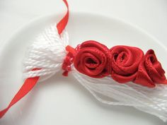 Red Roses on White Valentines Ornament Gift by @Elizabeth C #dteam #valentinesday