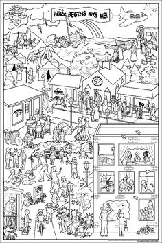 adult coloring pages scenes coloring pages for all ages - Colouring Pages For Adults Online Free