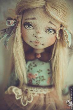 Коллекционные куклы ручной работы. Заказать Лёля. Евгения Драгина. Ярмарка Мастеров. Песочный, лен