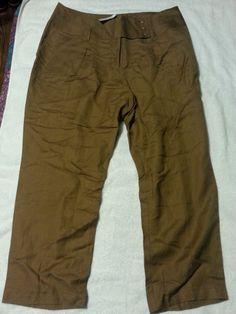 Check out New Lane Bryant ladies linen pants size 18 http://r.ebay.com/drlYg4 via @eBay